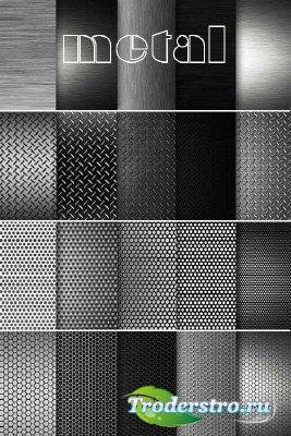 Коллекция текстур перфорированного и полированного металла