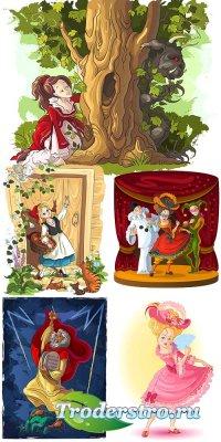 Сказочные детские изображения в векторе