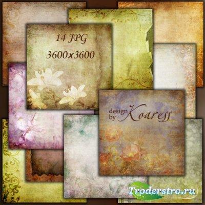 Винтажные фоны для фотошопа с цветами и цветочными узорами