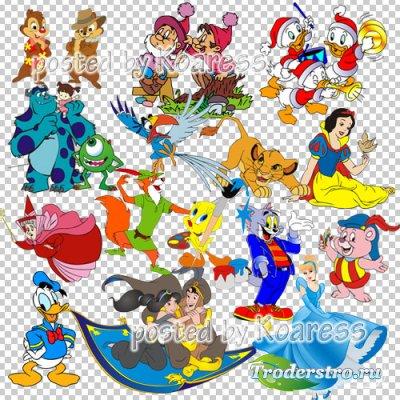 Png клипарт для дизайна с героями любимых мультфильмов Диснея