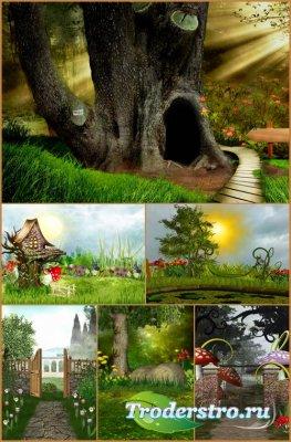Фоны для фотошопа - Сказочный пейзаж 10