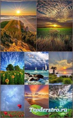 Пейзажные фоны для рамок и открыток 5