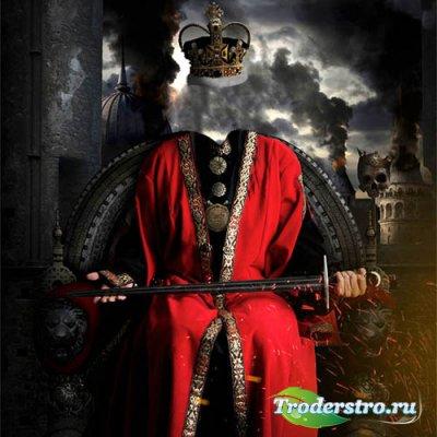 Злой царь на троне - шаблон psd