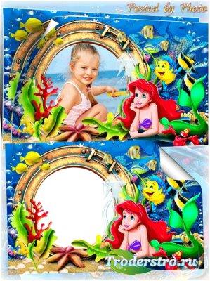 Детская рамка для девочки - Русалочка Ариель