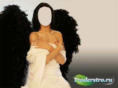 Шаблон для девушек - Ангел с крыльями