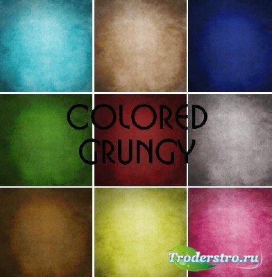 Коллекция цветных гранжевых текстур