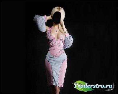 Шаблон для фотошопа - Девушка в платье фотосессия