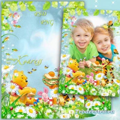 Детская рамка для фото с героями мультфильма Диснея Винни Пух - Веселая ком ...