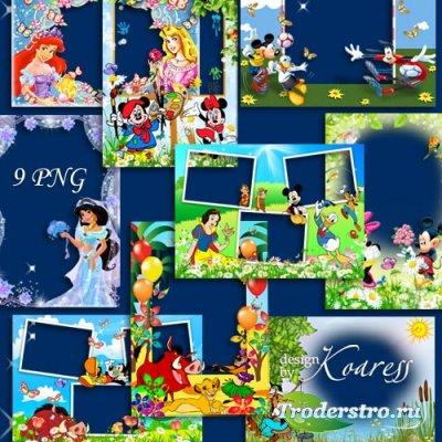 Детские рамки для фото с героями мультиков Диснея - Вместе с верными друзья ...