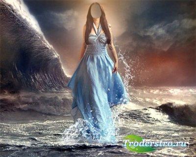 Шаблон для Photoshop - Шторм на море