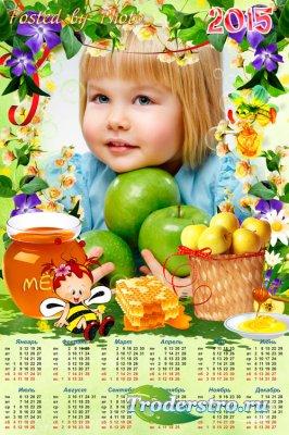 Календарь-рамка на 2015 год - Медовые яблочки