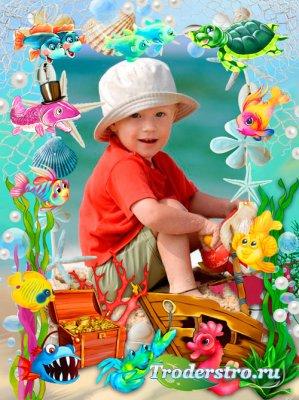 Морская рамка для детей - На дне океана