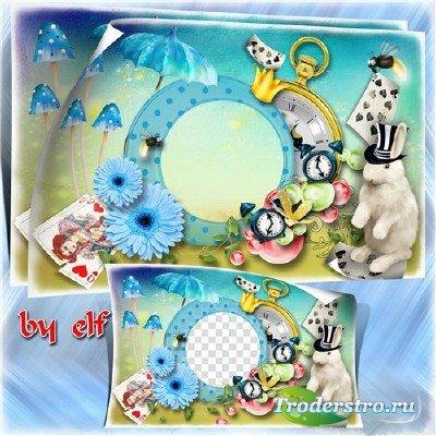 Детская фоторамка - Алиса в стране чудес 2