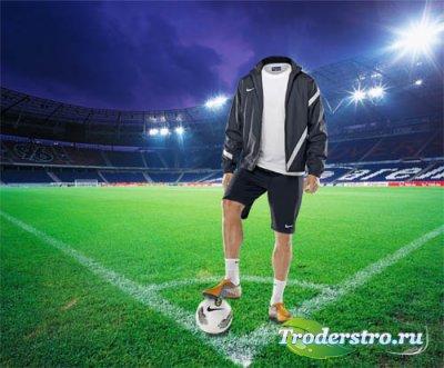 Футболист перед игрой - шаблон psd