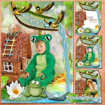 Детская фоторамочка с костюмом - Моё лесное царство