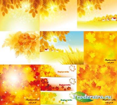 Autumn bg vector cliparts