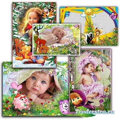 Сборник детских фоторамок - Маленькие друзья