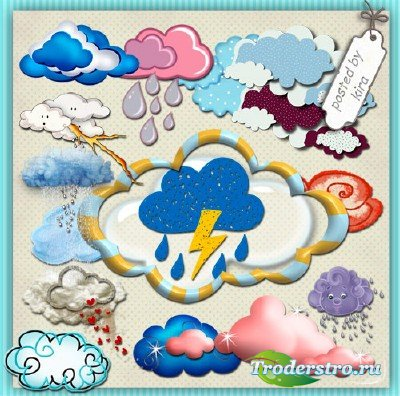 Клипарт - Красивые облака для оформления
