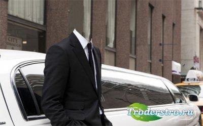 Мужской шаблон - Богатый мужчина в костюме