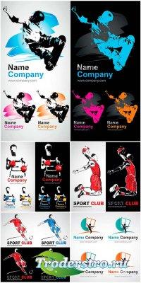 Спортивные логотипы - векторный сборник