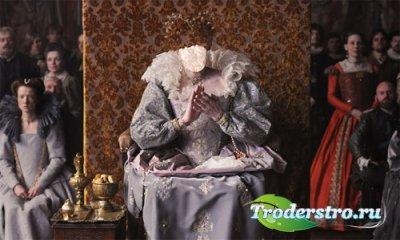 Шаблон женский - Королева в старинном наряде