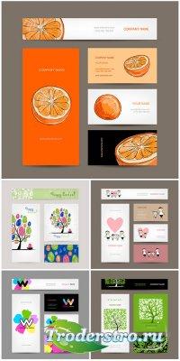 Сборник векторных визиток и бизнес карт