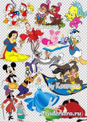 Сборник клипарта в формате png с героями любимых мультфильмов