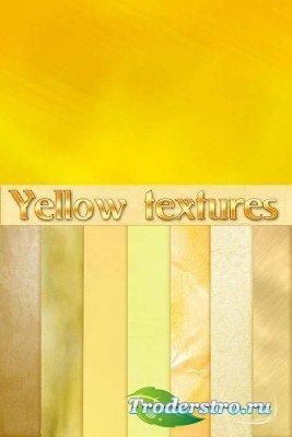 Коллекция желтых фонов
