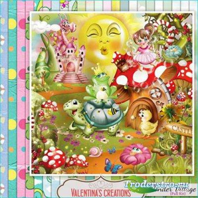 Сказочный детский скрап-комплект - Удивительная деревня