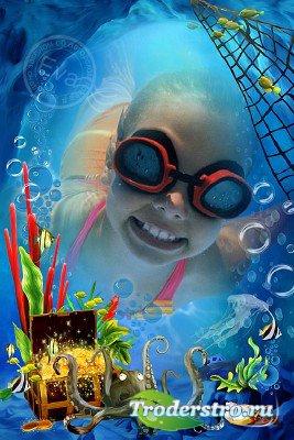 Детская фоторамка - Сказочный подводный мир