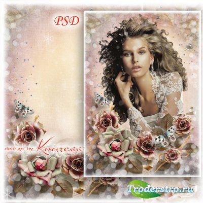 Винтажная женская фоторамка - Романтические чувства
