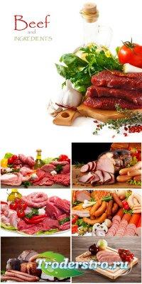 Мясные изделия - растровый клипарт