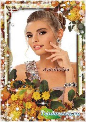 Осенняя рамка для фото – Золотой букет
