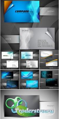 Сборник визиток - векторный клипарт