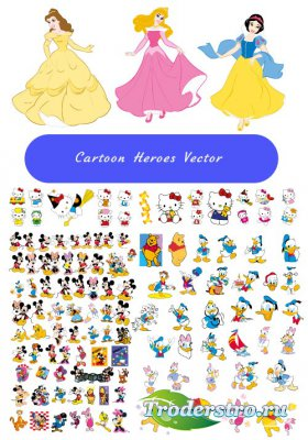 Cartoon hero Cliparts Vector