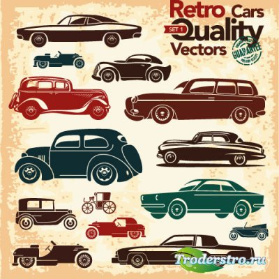 Black Silhouettes retro clipart (Vector)