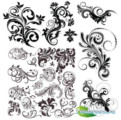 Decorative ornaments design 1 vector