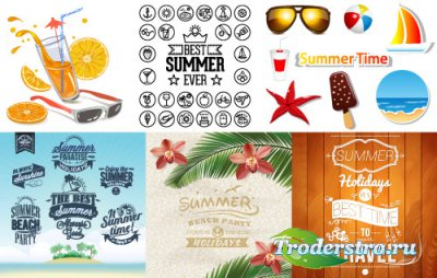 Background elements clipart vector