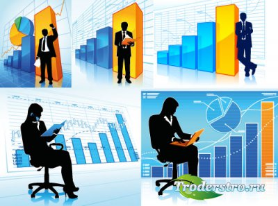 Infographics people silhouettes clipart vector