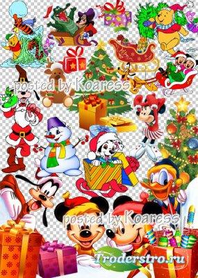 Детский новогодний, рождественский клипарт для фотошопа на прозрачном фоне  ...