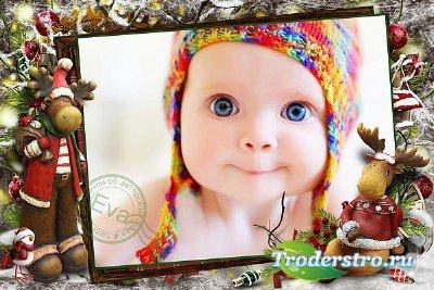 Детская фоторамочка - Встречаем Новый год весело