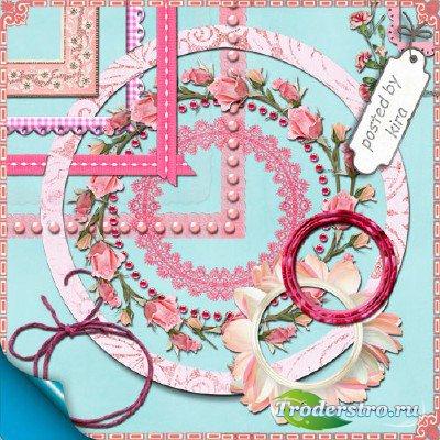 Клипарт для оформления - Розовые рамки