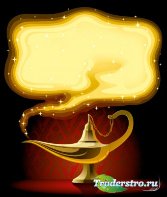 Golden magic fairy lamp Vector