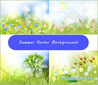 Bright sunny summer background (vector)