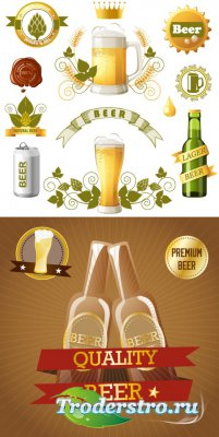 Beer labels (vector)