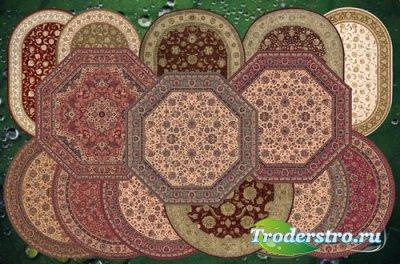 Клипарт Овальные и круглые ковры для виртуального декора
