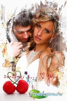 Рамочка для фотографий - Дорогая, я люблю тебя