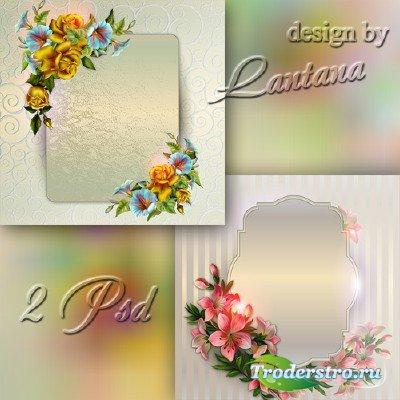 Винтажные PSD исходники с цветами