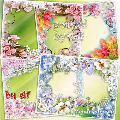 Цветочные фоторамки - Магическая музыка весны