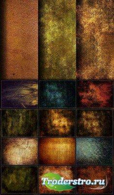 Набор цветных гранжевых текстур